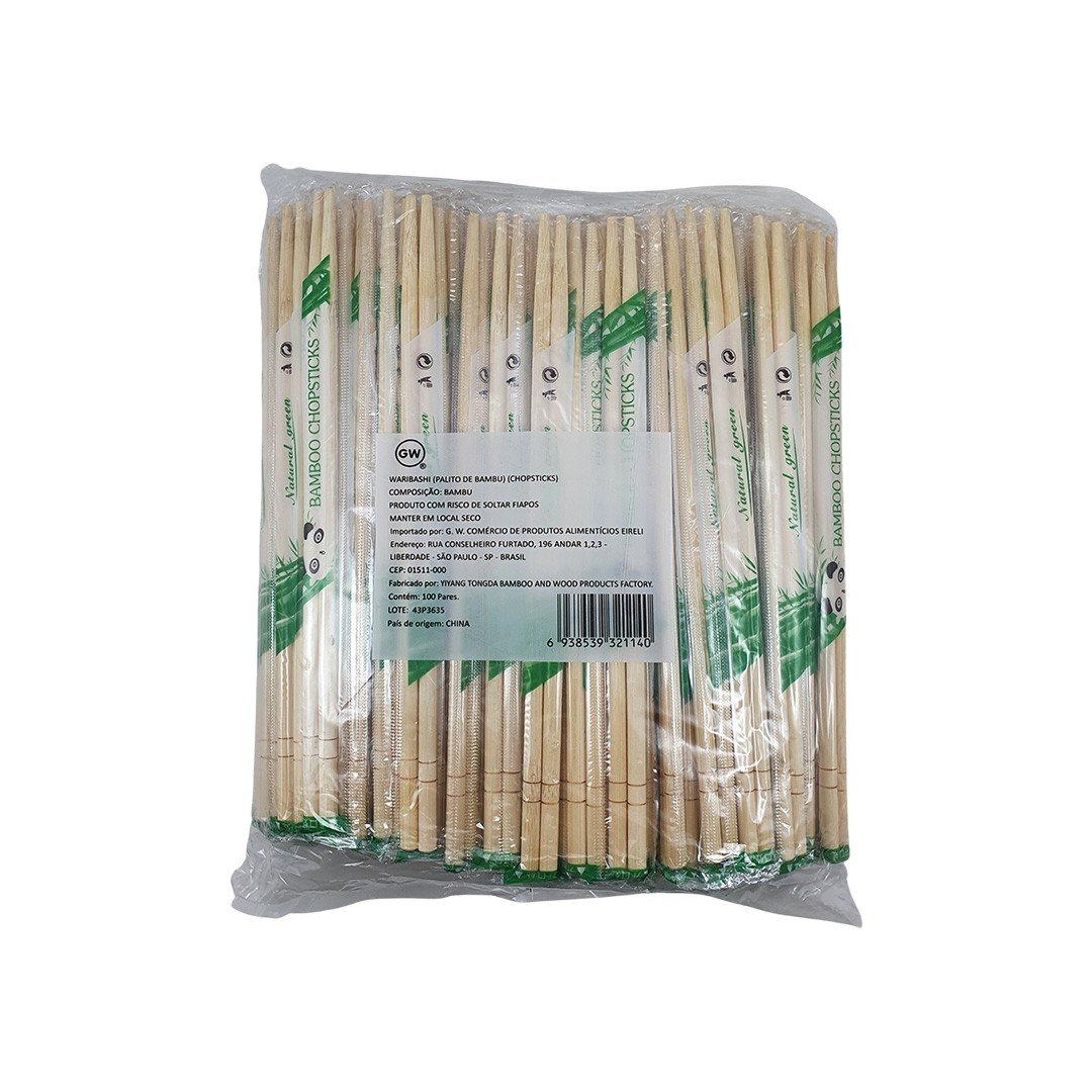 Hashi Waribashi de Bambu Descartável 100 Pares GW