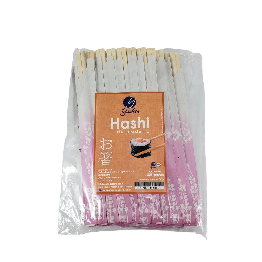 Hashi Waribashi de Madeira Descartável 40 Pares Yuchen