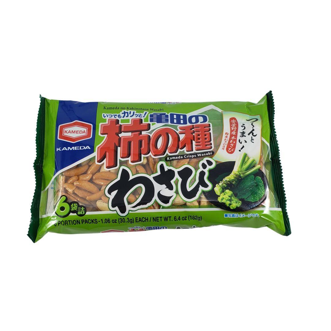 Kakinotane Salgadinho de Arroz e Amendoim sabor Wasabi Japonês 6P 182g