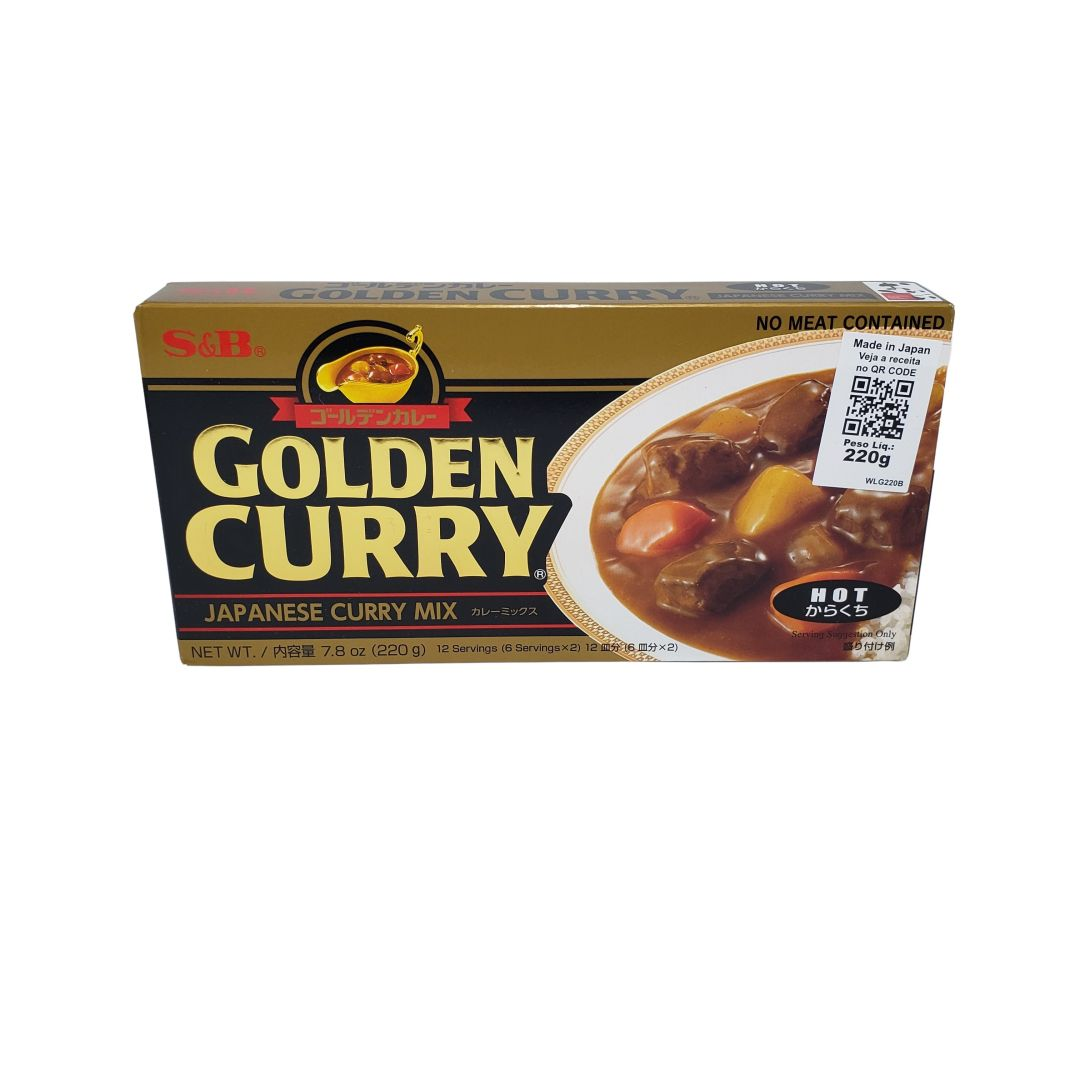 Karê Japonês Golden Curry Forte Karakuchi S&B 220g
