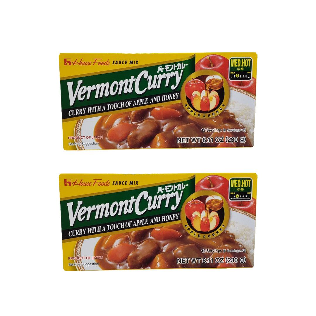 Karê Japonês House Vermont Curry Médio Chukara 230g Kit 2 Unidades