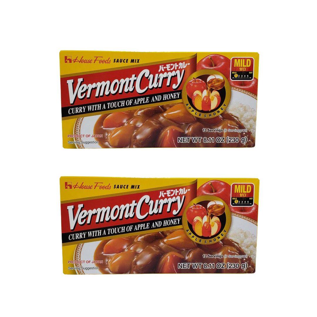 Karê Japonês House Vermont Curry Suave Amakuchi 230g Kit 2 Unidades