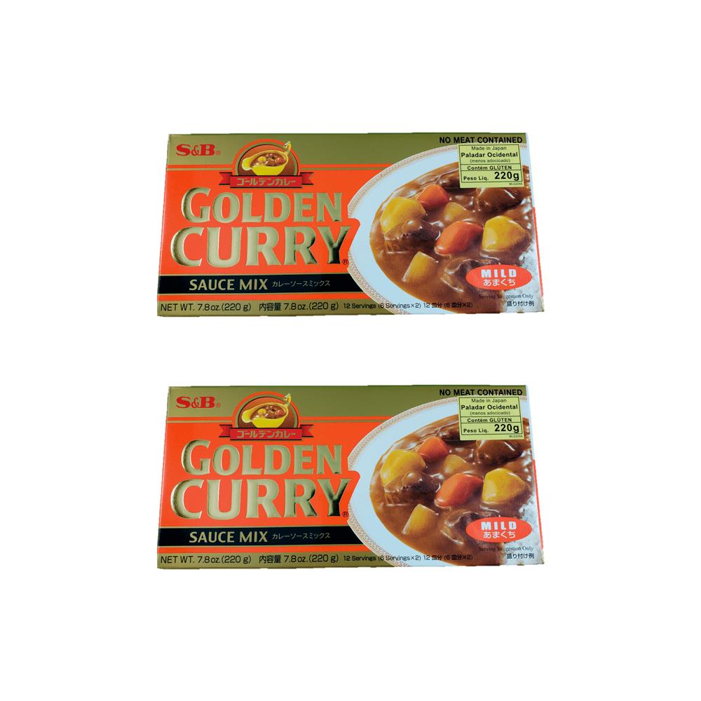 Karê Japonês Golden Curry Suave Amakuchi S&B 220g 2 Unidades