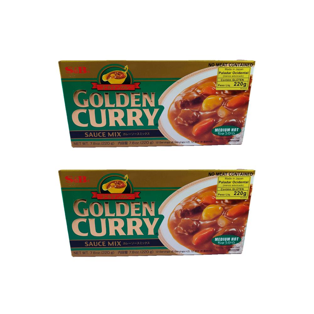 Karê Japonês Golden Curry Médio Chukara S&B 220g 2 Unidades