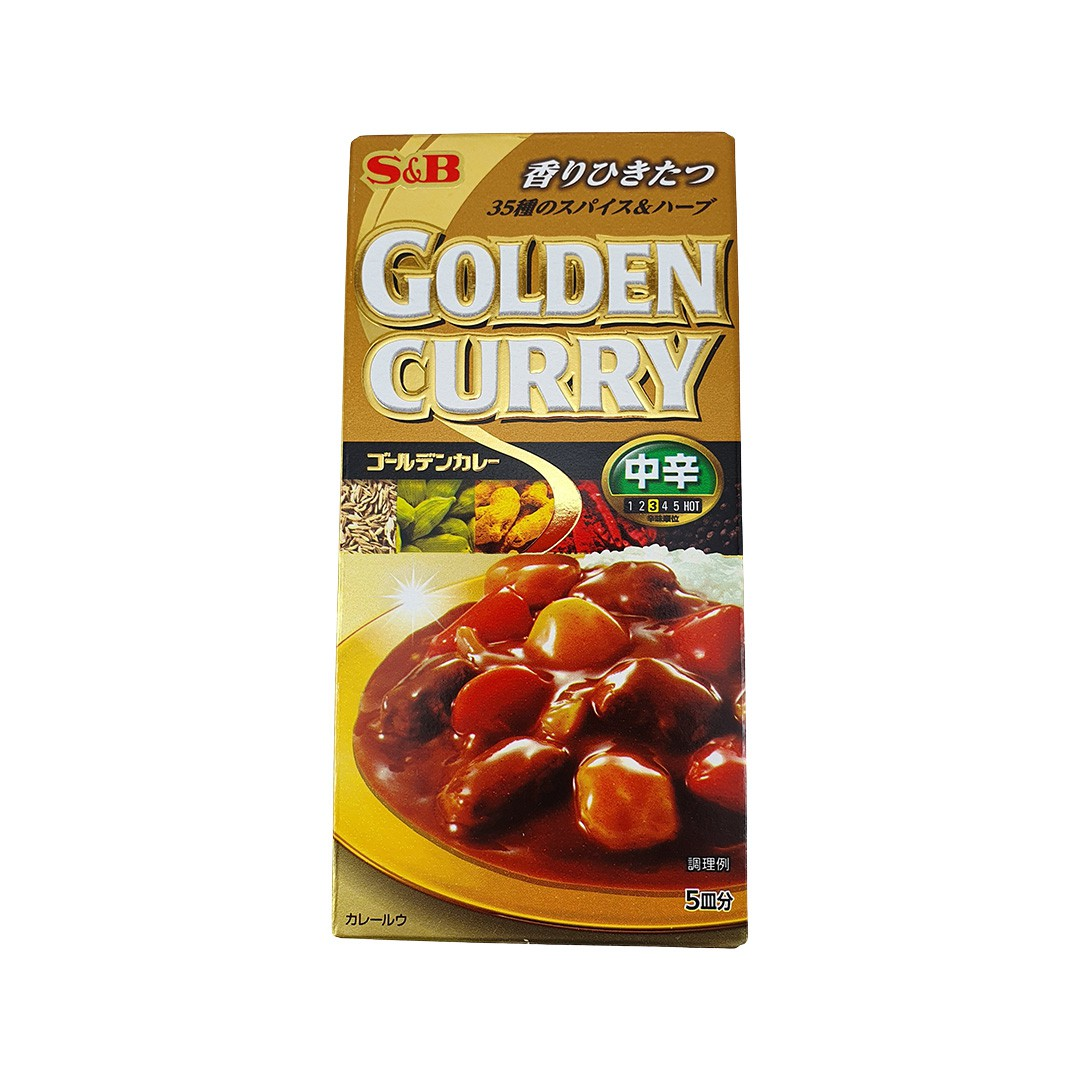 Karê Japonês Golden Curry Médio Chukara S&B 90g