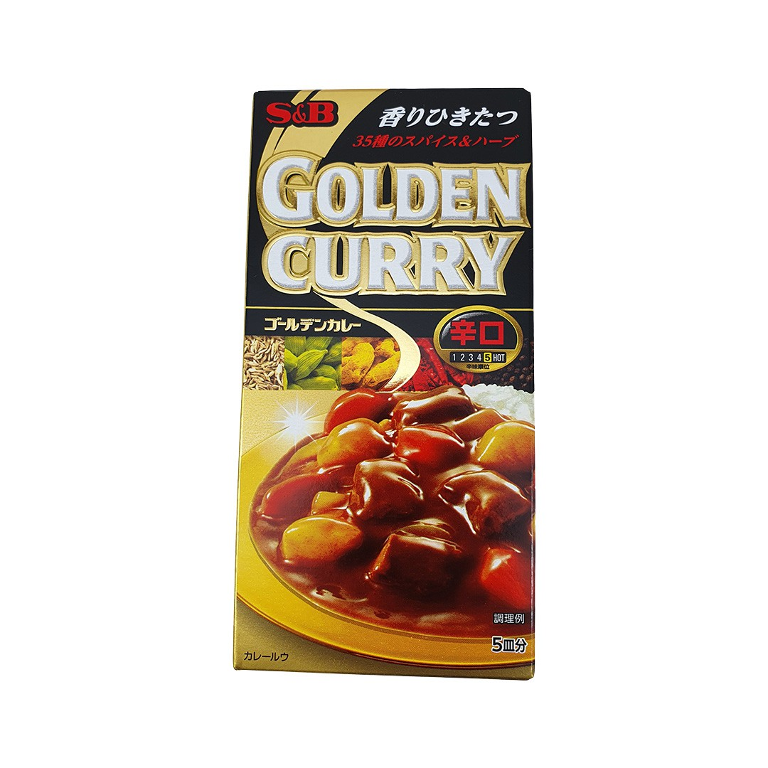 Karê Japonês Golden Curry Forte Karakuchi S&B 90g
