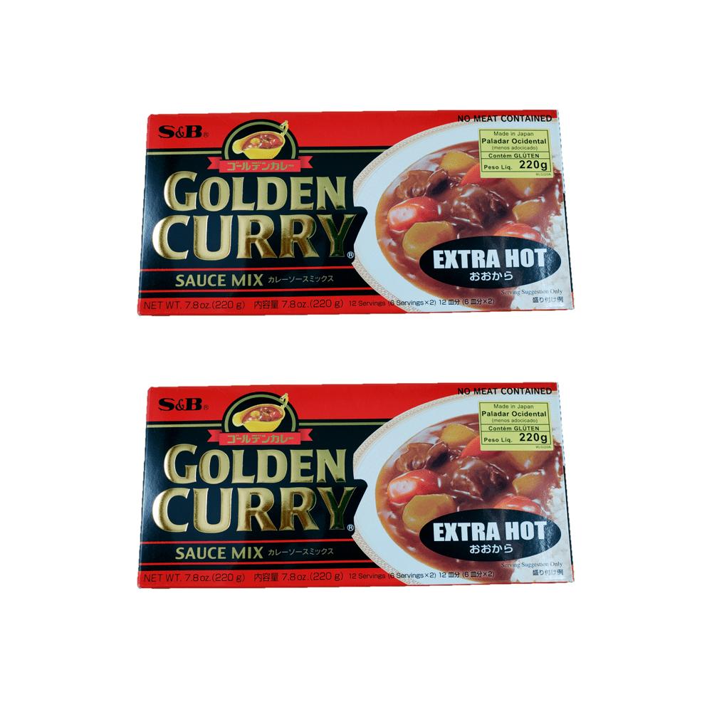 Karê Japonês Golden Curry Extra Forte Ookara S&B 220g 2 Unidades