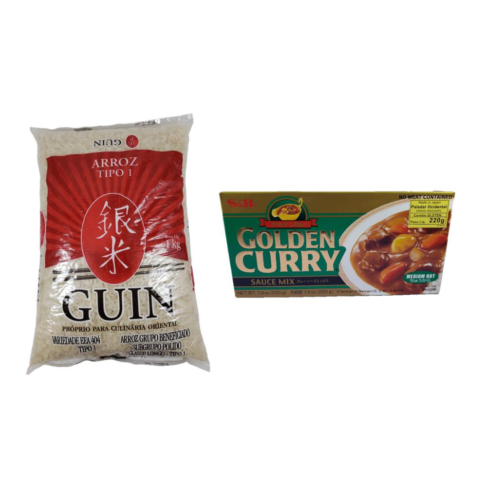 Karê Japonês Golden Curry Médio Chukara S&B 220g com Arroz