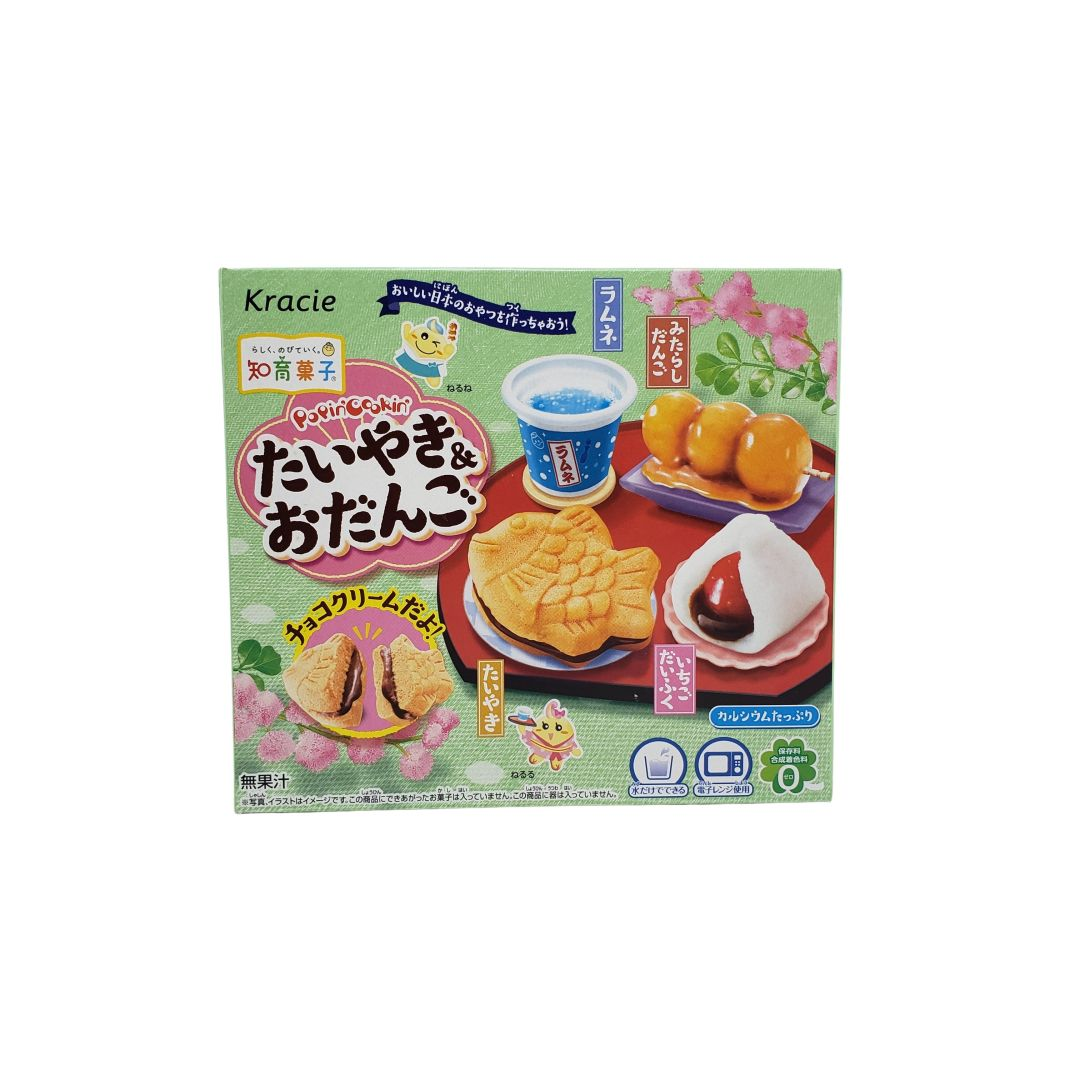 Kit para Preparo de Doces Infantil Popin Cookin Kracie Taiyaki e Odango 39g