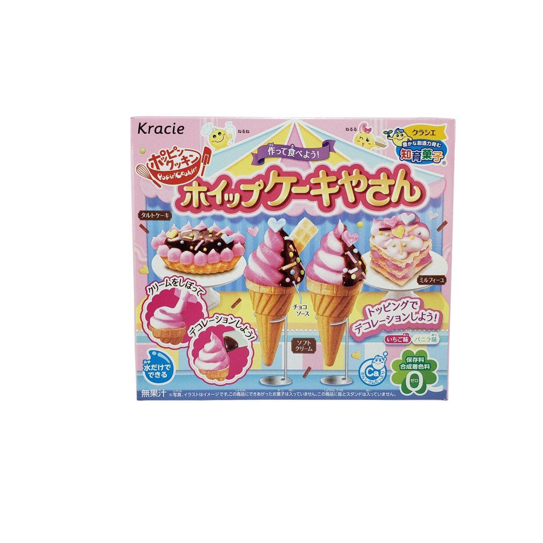 Kit para Preparo de Doces Infantil Popin Cookin Kracie Whip Cakeya San Snack