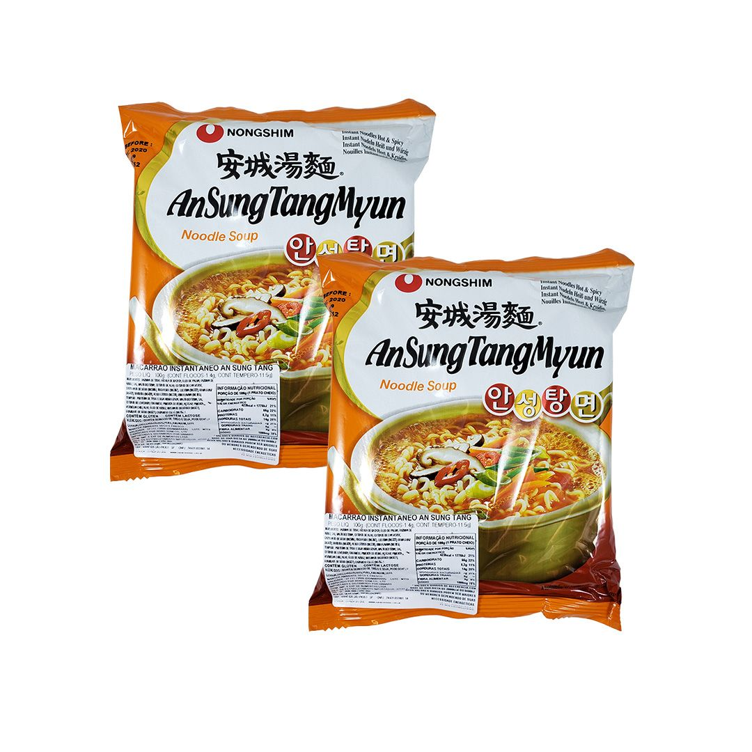 Lamen Coreano AnSung Tang Myun Kit 2 unidades