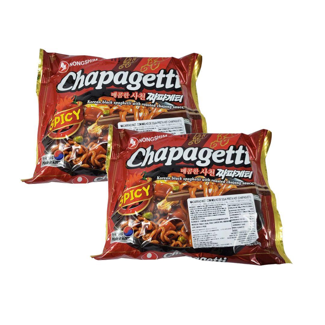 Lamen Coreano Chapagetti Spicy Kit 2 Unidades