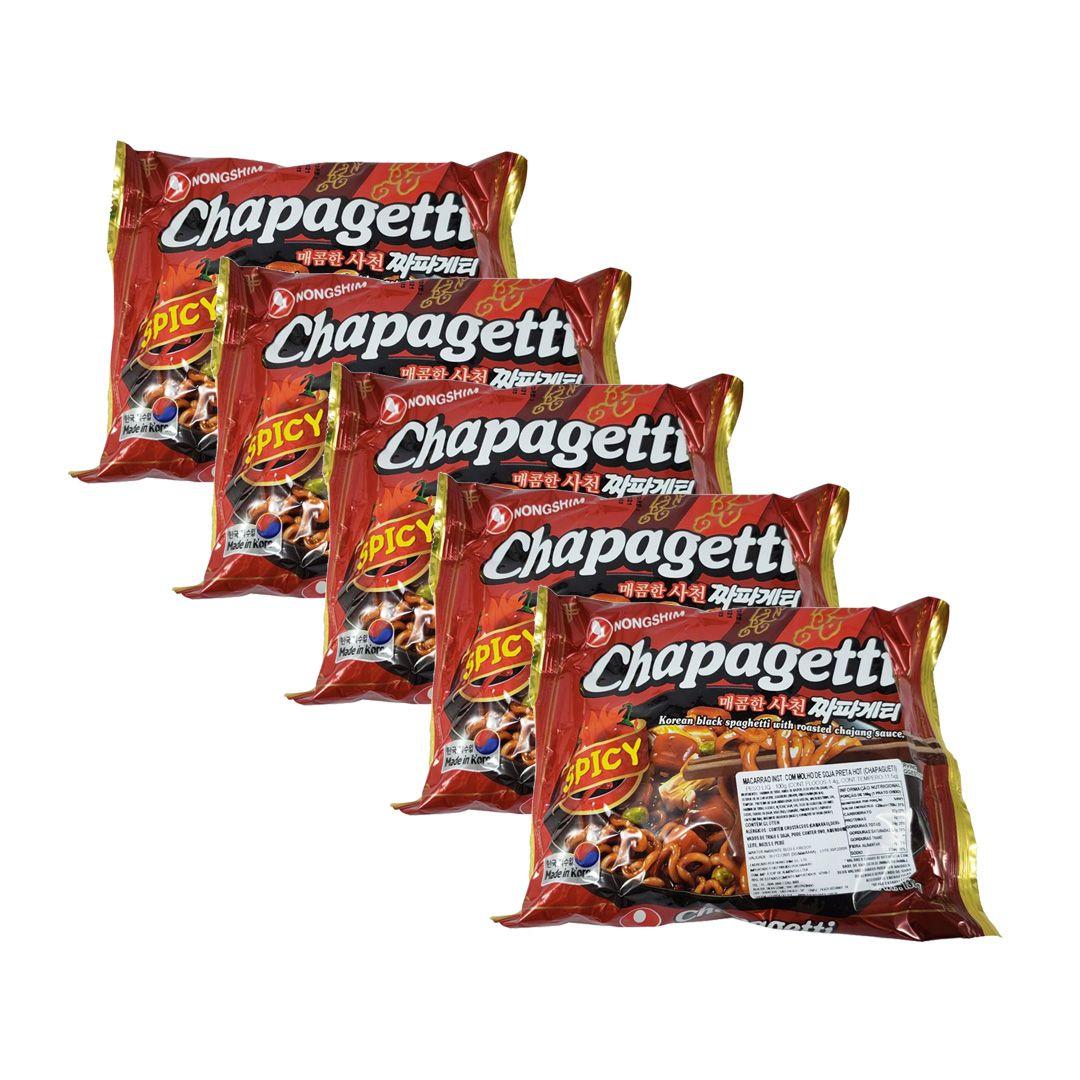 Lamen Coreano Chapagetti Spicy Kit 5 Unidades