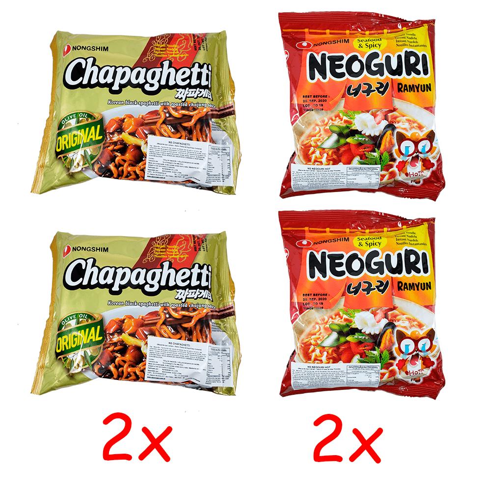 Lamen Coreano Chapaguri Kit com 2