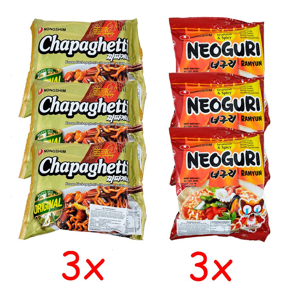 Lamen Coreano Chapaguri Kit com 3