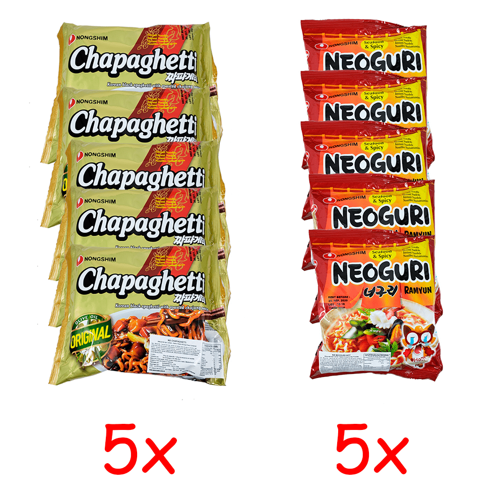 Lamen Coreano Chapaguri Kit com 5