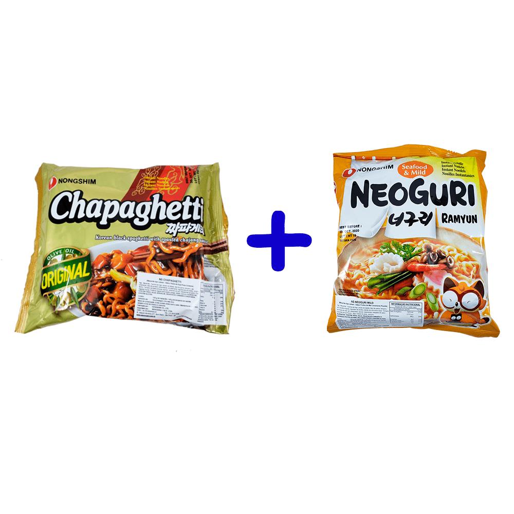 Lamen Coreano Chapaguri Suave (Kit Chapaghetti + Neoguri Suave)