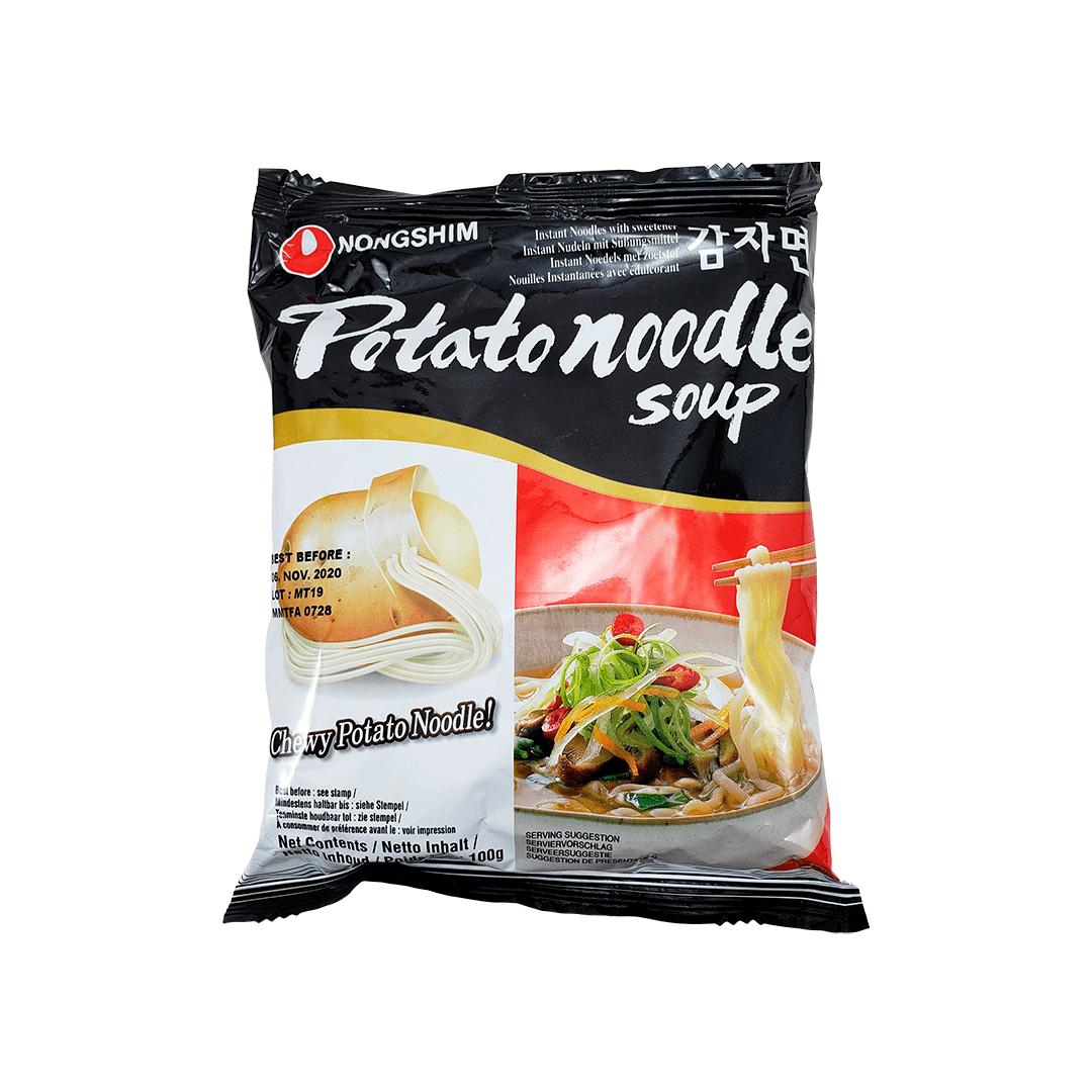 Lamen Coreano com Macarrão de Batata Potato Noodle Soup