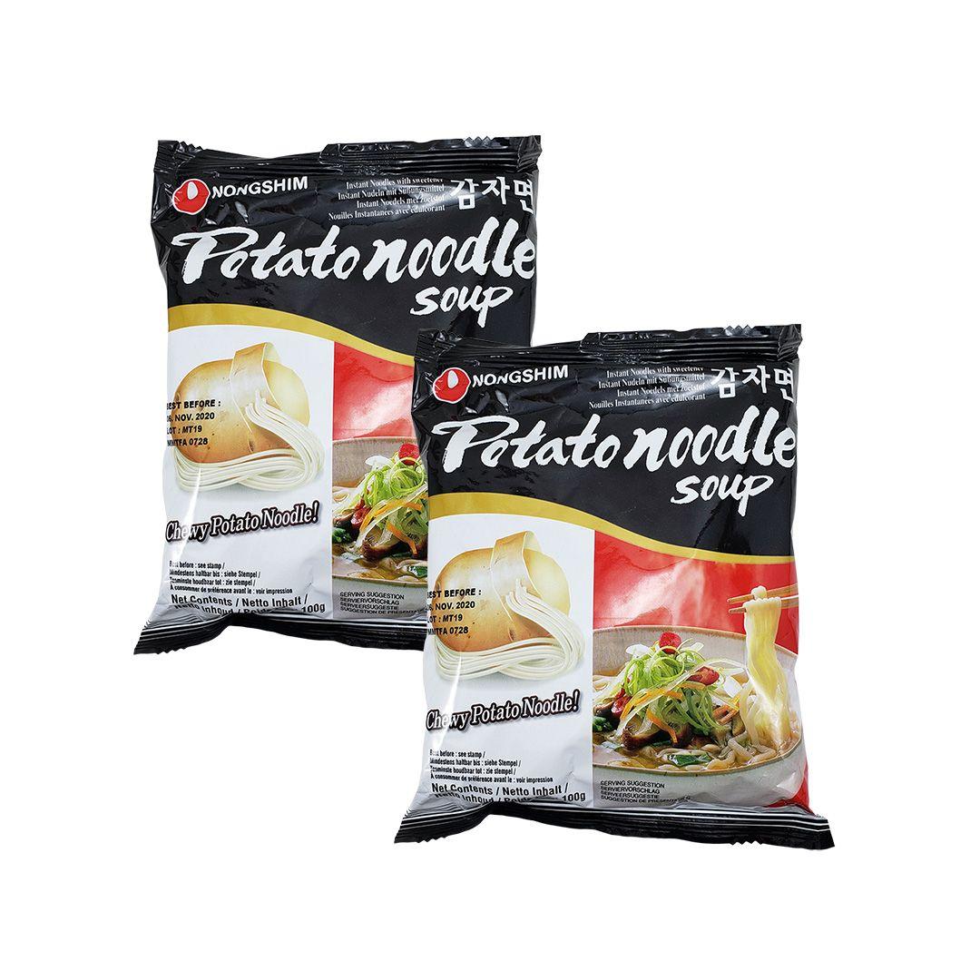 Lamen Coreano com Macarrão de Batata Potato Noodle Soup Kit 2 Unidades