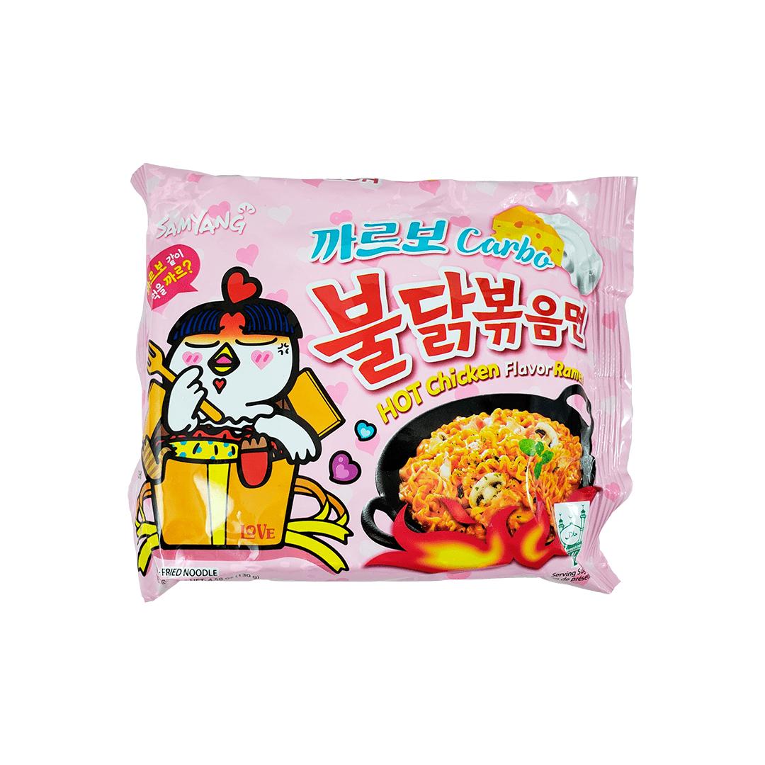Lamen Coreano Frango Picante Cremoso Carbonara Hot Chicken Ramen