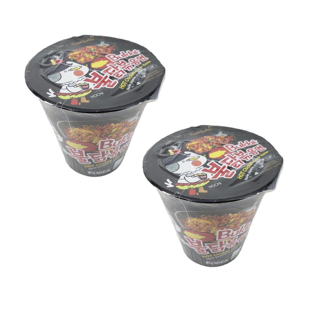 Lamen Coreano Frango Picante Hot Chicken Ramen Buldak Cup Kit 2 unidades