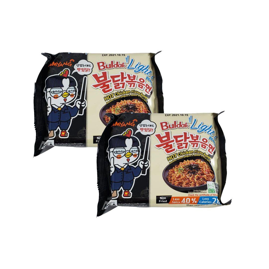Lamen Coreano Frango Picante Hot Chicken Ramen Buldak Light Kit 2 unidades
