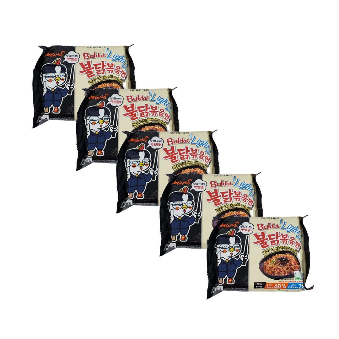 Lamen Coreano Frango Picante Hot Chicken Ramen Buldak Light Kit 5 unidades