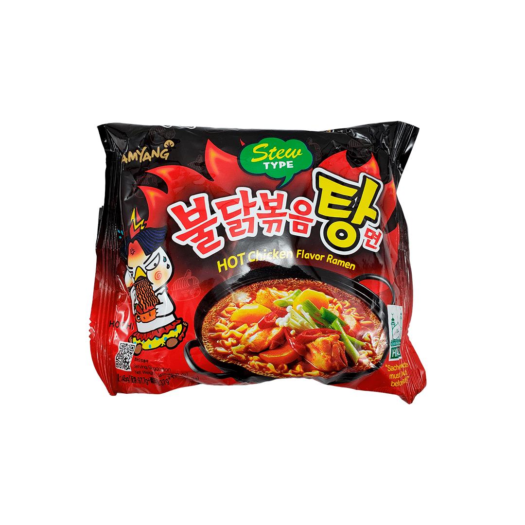 Lamen Coreano Frango Picante Tipo Sopa Hot Chicken Ramen Stew Type