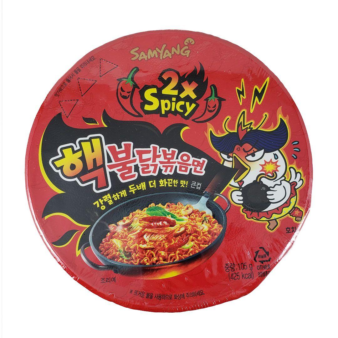 Lamen Coreano Frango Super Picante Hot Chicken Ramen 2x Spicy Big Bowl 105g
