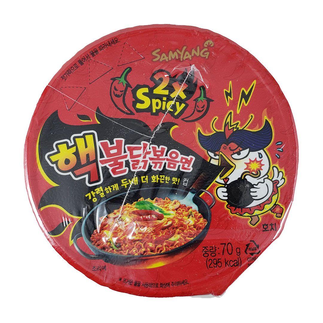 Lamen Coreano Frango Super Picante Hot Chicken Ramen 2x Spicy Cup 70g