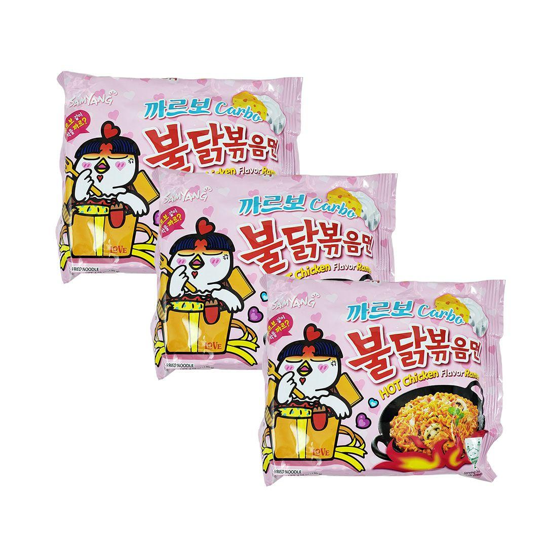 Lamen Coreano Hot Chicken Ramen Carbonara Kit 3un