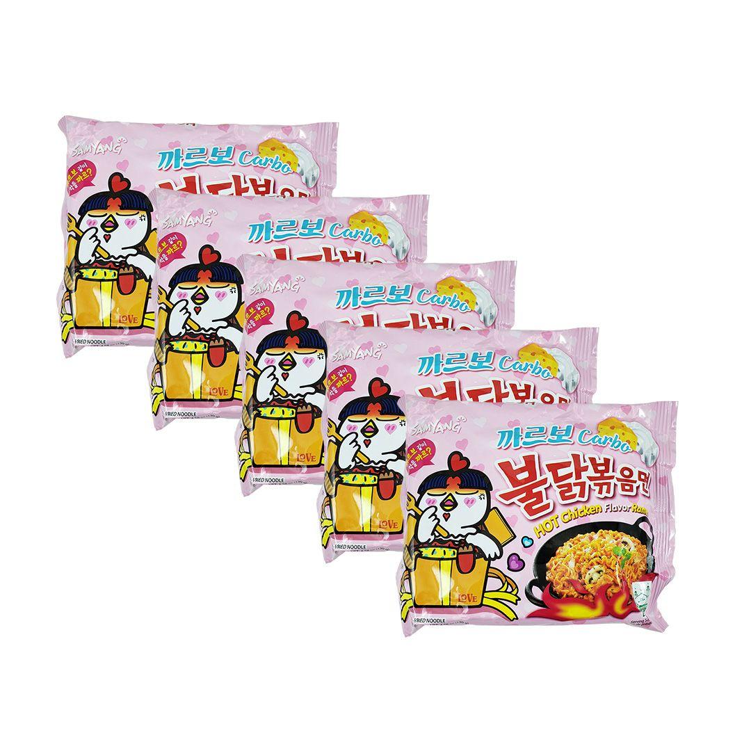 Lamen Coreano Hot Chicken Ramen Carbonara Kit 5un