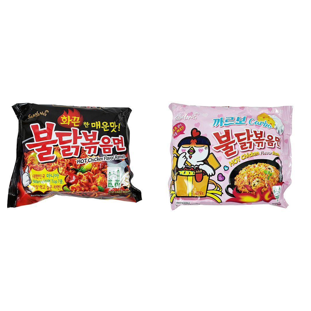 Lamen Coreano Hot Chicken Ramen e Carbonara Kit