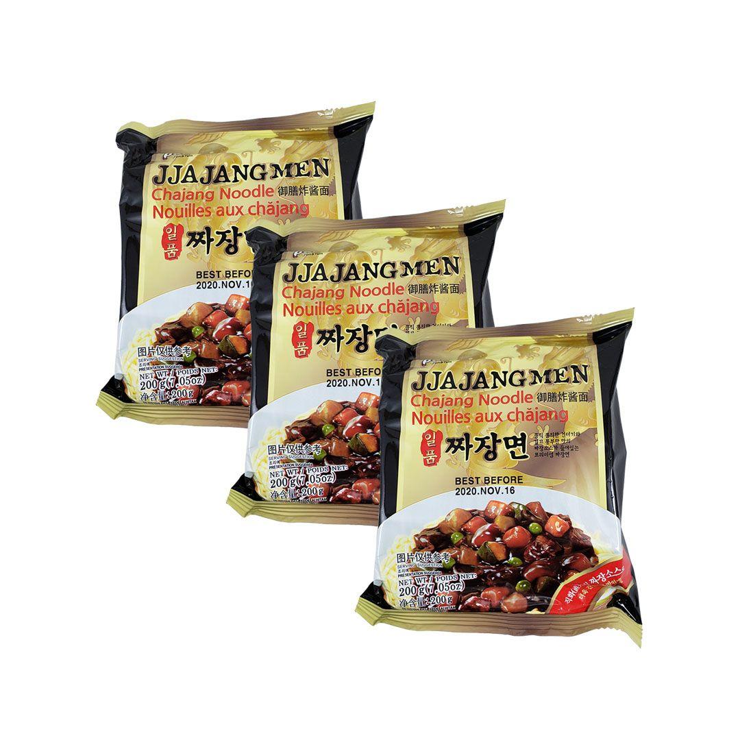 Lamen Coreano Jjajangmen Chajang Paldo Kit 3 Unidades