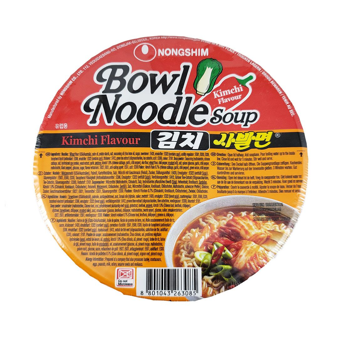 Lamen Coreano Kimchi Bowl Nongshim 86g