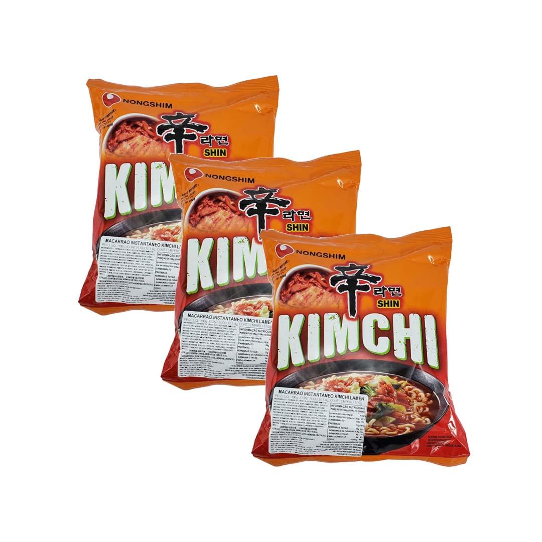 Lamen Coreano Kimchi Ramyum 3 unid