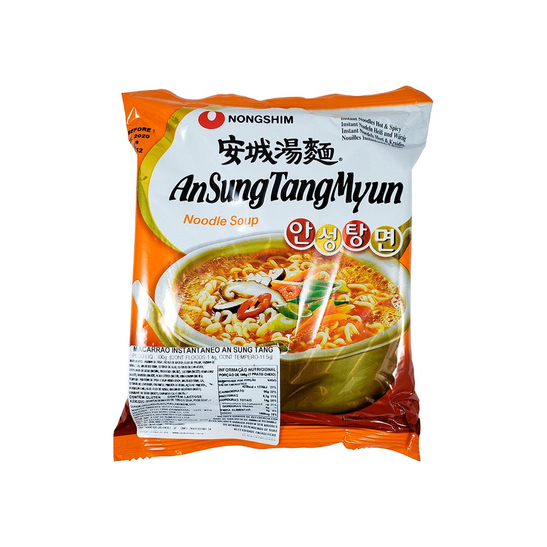 Lamen Coreano Nongshim AnSung Tang Myun Pacote 100g