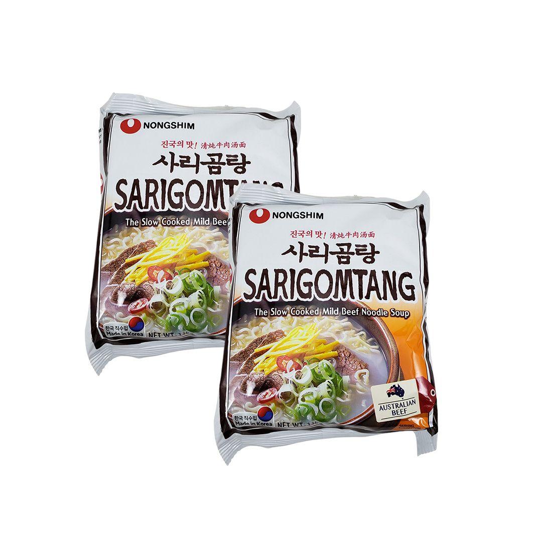 Lamen Coreano Sarigomtang Nongshim Kit 2 unidades