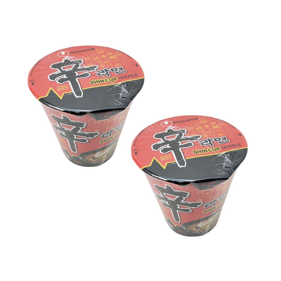 Lamen Coreano Shin Ramyun Cup 68g Kit 2 unidades