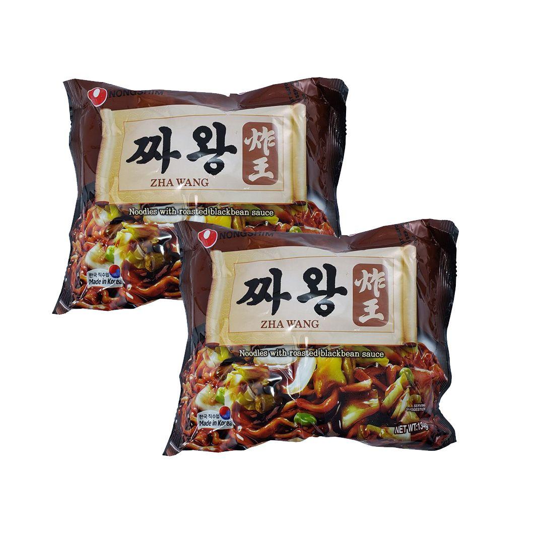 Lamen Coreano Zha Wang Chawang Nongshim Kit 2 Unidades