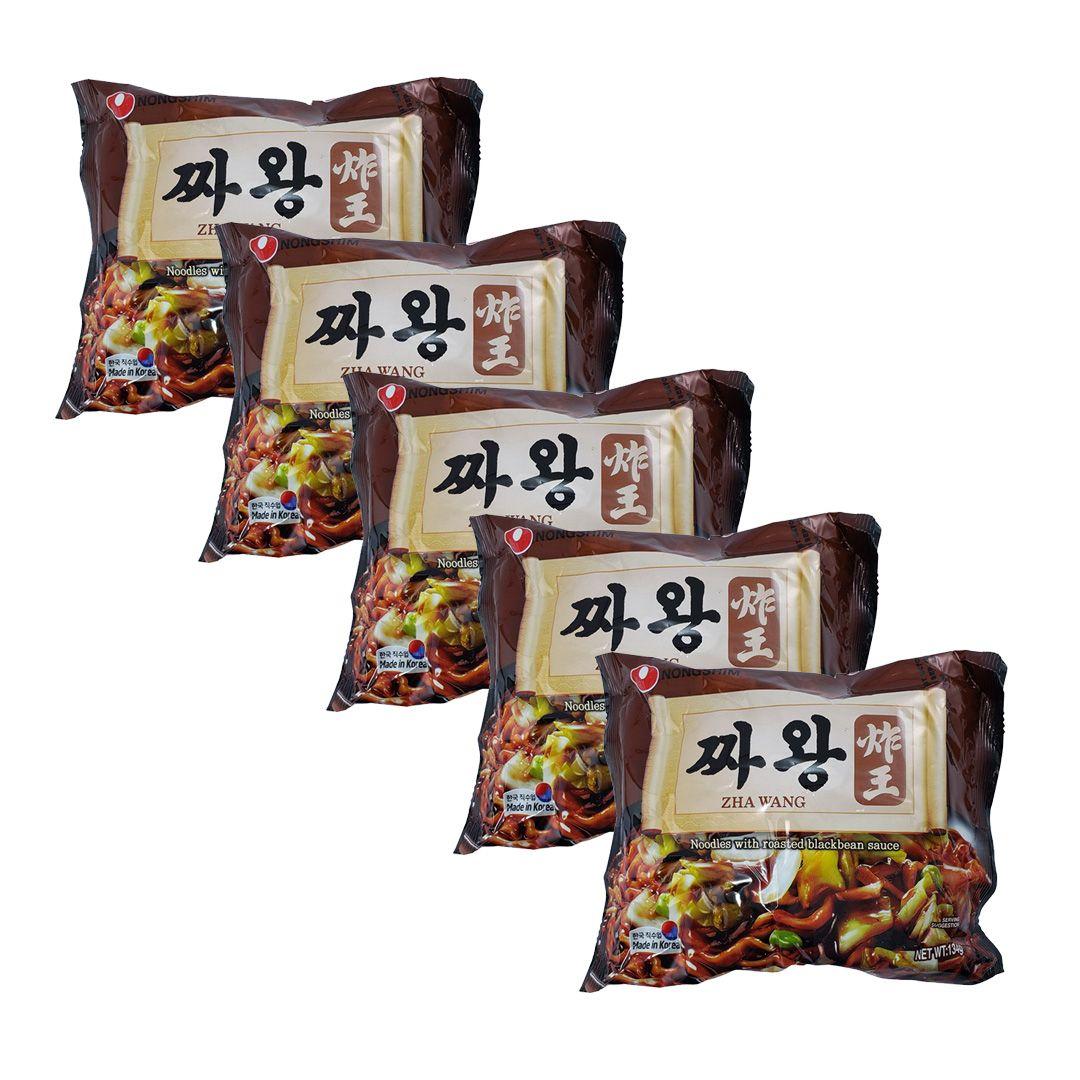Lamen Coreano Zha Wang Chawang Nongshim Kit 5 Unidades