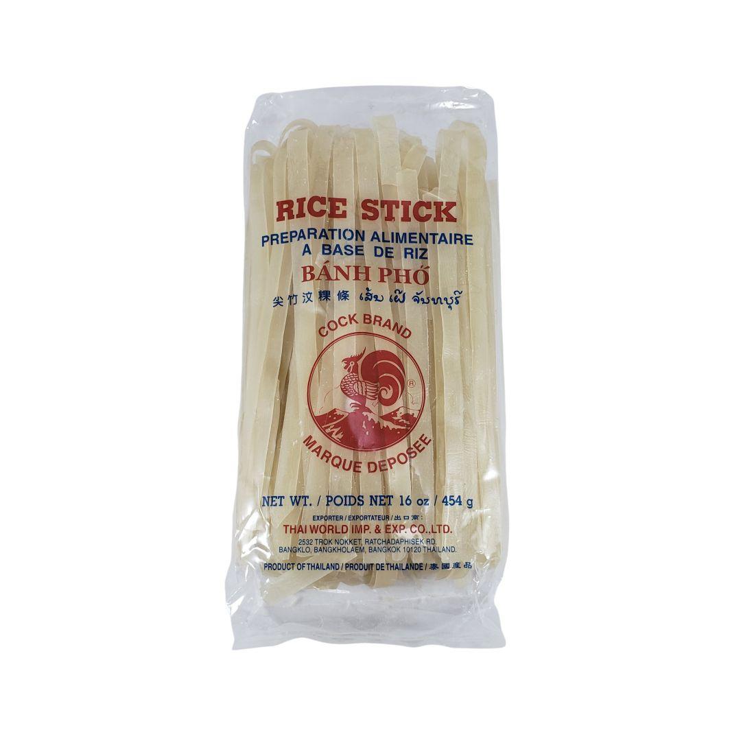 Macarrão de Arroz Tailandês Rice Stick Banh Pho 10mm Cock Brand 454g