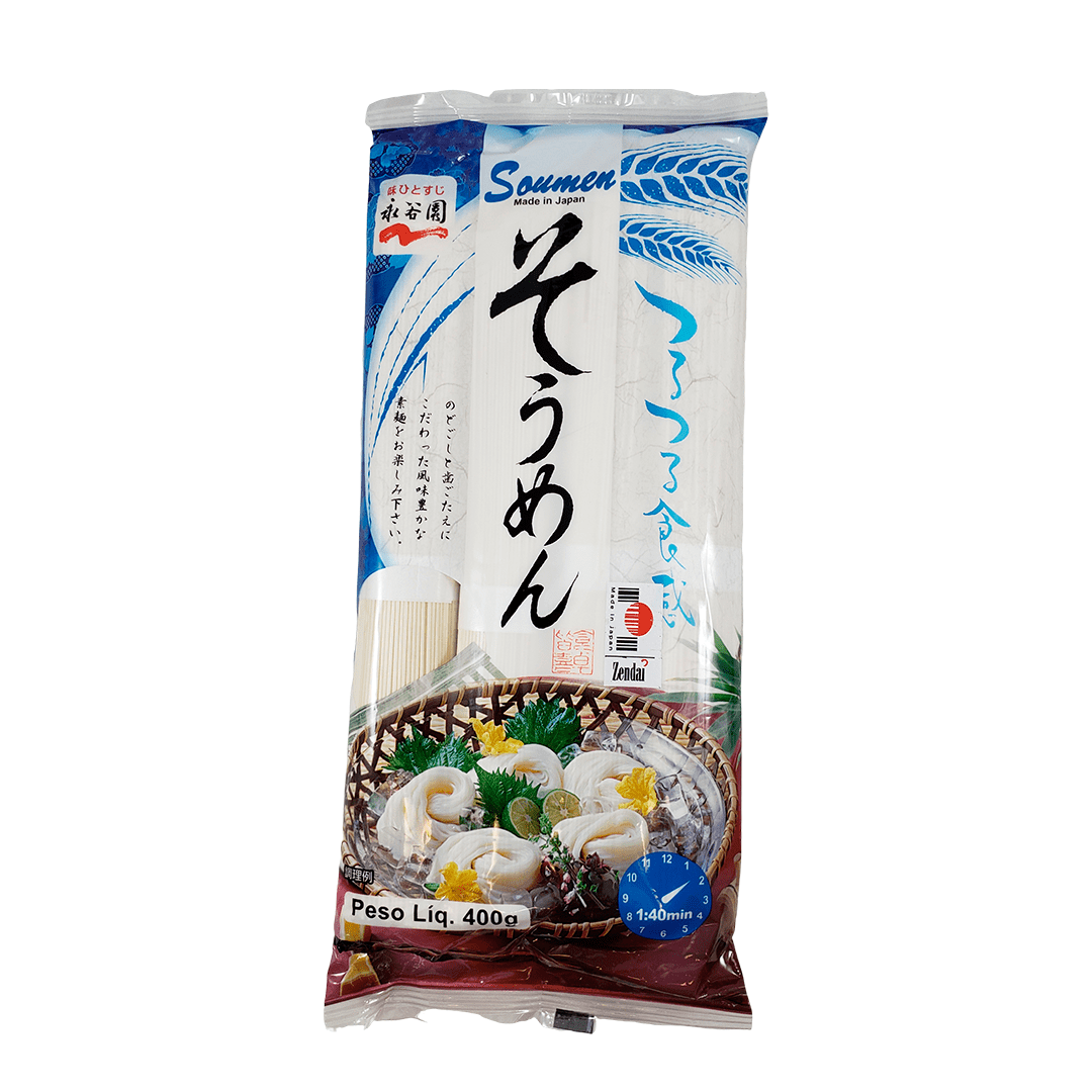 Macarrão Fino Somen Japonês Nagatanien 400g