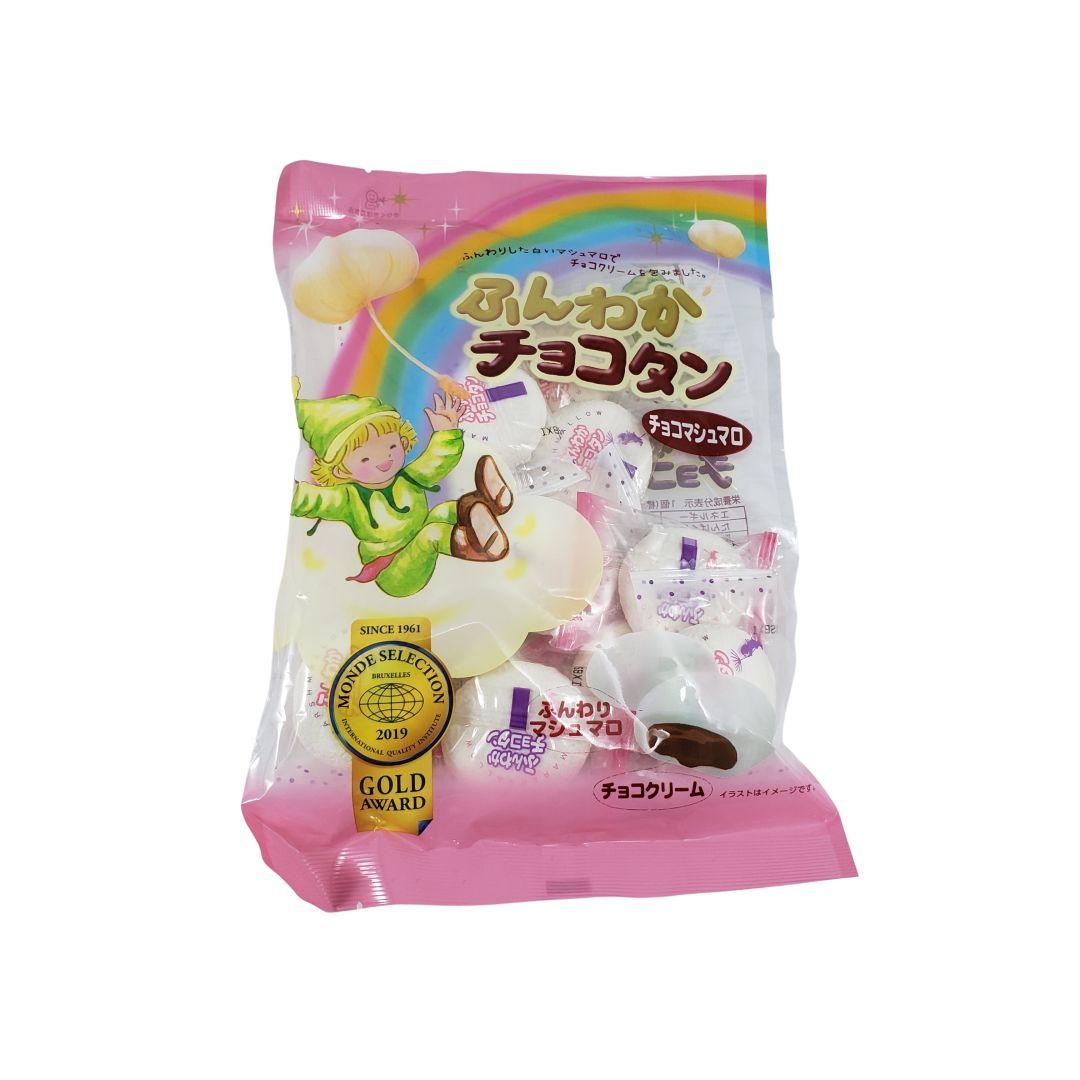Marshmallow com recheio de Chocolate Japonês Tenkei 90g