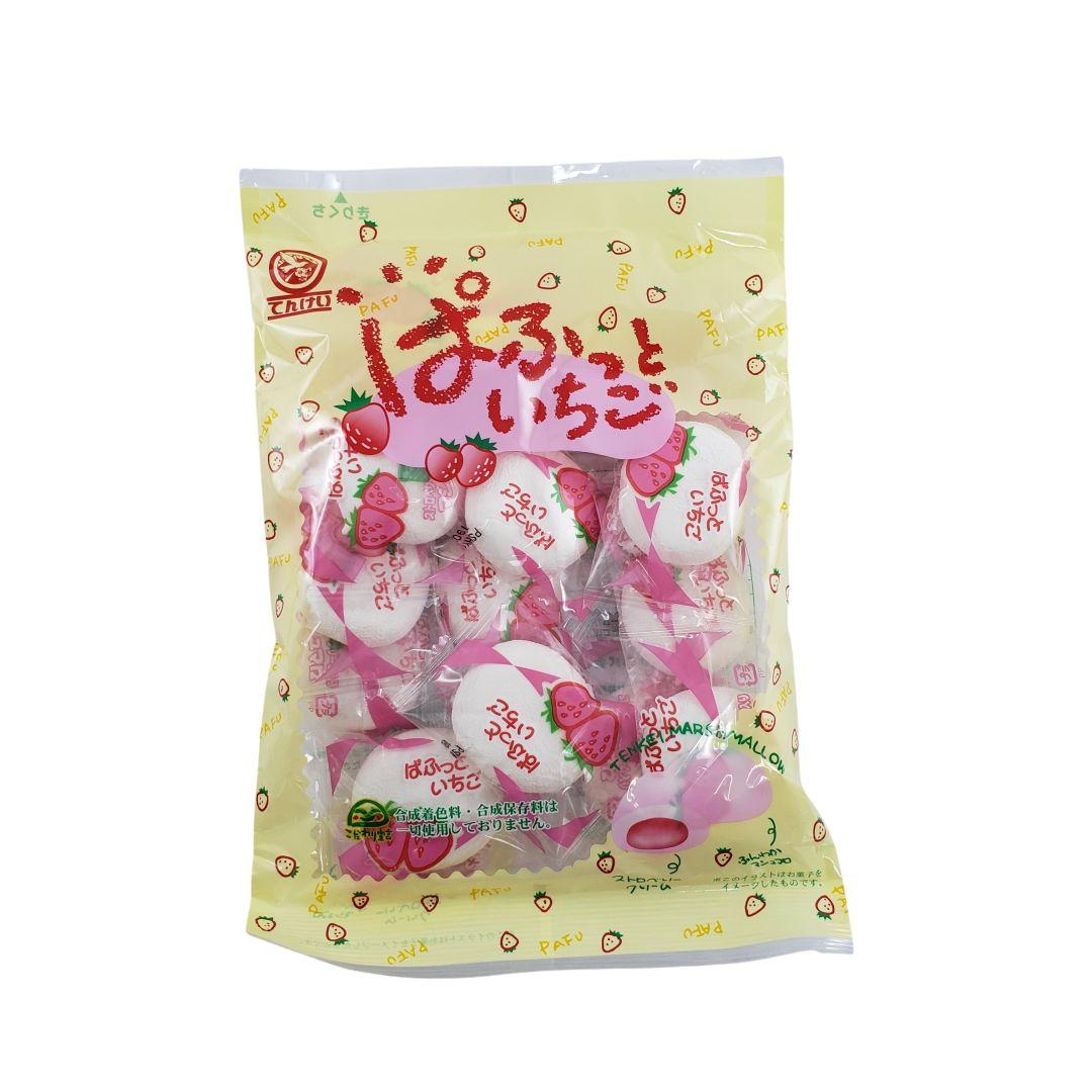 Marshmallow com recheio de Morango Japonês Tenkei 90g
