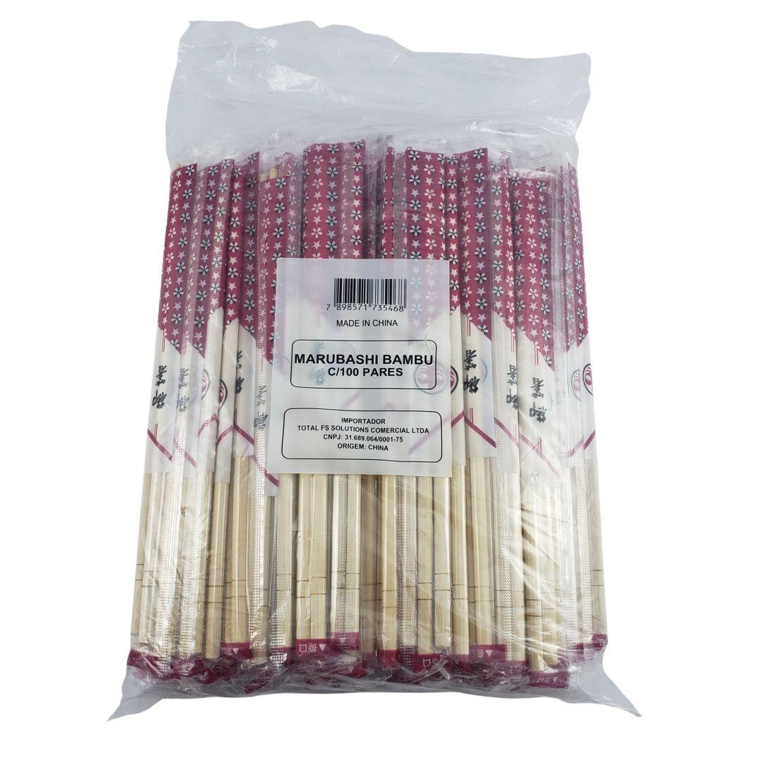 Marubashi Hashi de Bambu Redondo Descartável 100 Pares Total FS