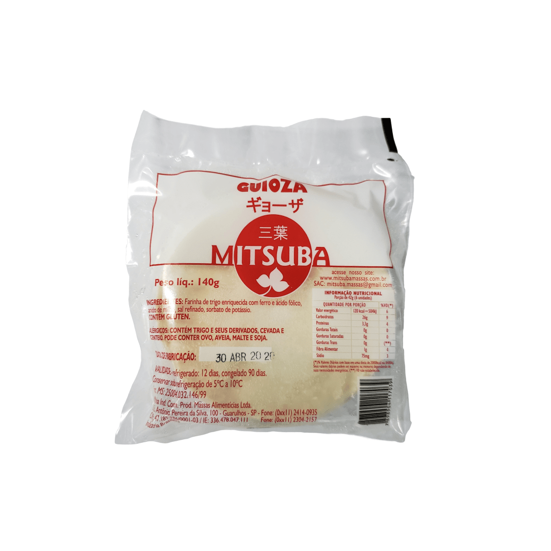Massa para Guioza Congelada Mitsuba 20 Folhas