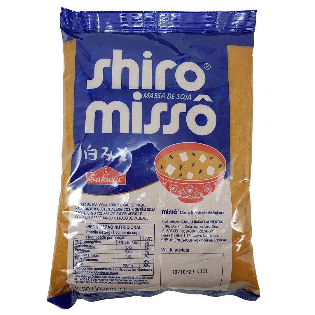 Missô Massa de Soja Shiro Sakura 1Kg
