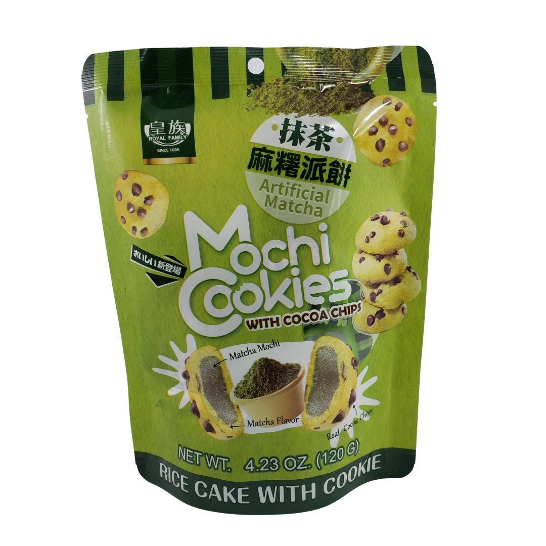 Mochi Cookies Bolinho de Moti sabor Matcha Royal Family 120g
