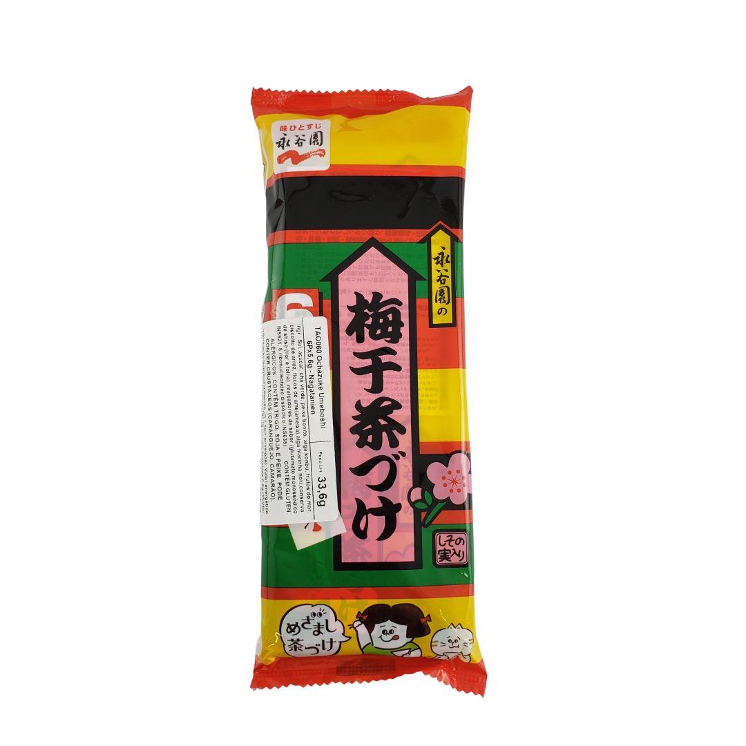 Ochazuke Tempero para Arroz Japonês Ume Ameixa 6 Saches